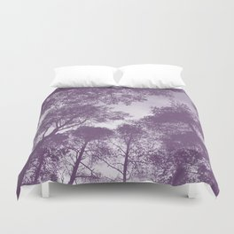 Forest view - lilac Duvet Cover