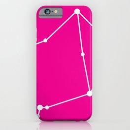 Libra (White & Magenta) iPhone Case