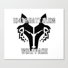 104th Battalion Wolfpack Canvas Print