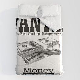 Wanted - Money Comforters