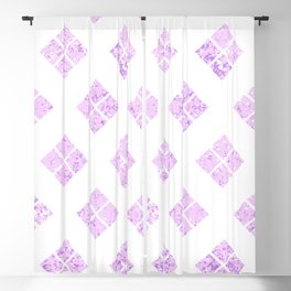 Geometrical abstract lilac violet watercolor argyle pattern Blackout Curtain