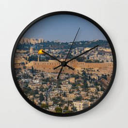 Jerusalem of Gold Wall Clock