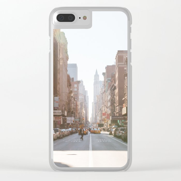 New York City Streets Clear iPhone Case