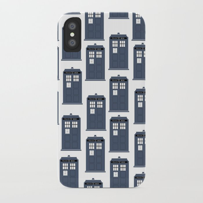Doctor WHO Tardis Pattern iPhone Case