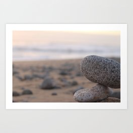 Dusk on the Beach Art Print