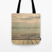 boardwalk empire Tote Bags featuring Boardwalk by Marc Daly