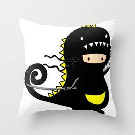 Mini Ninja Rawr Throw Pillow
