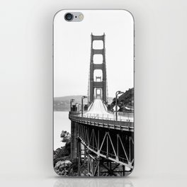 Golden Gate Bridge Black and White iPhone Skin
