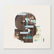 Resort Type - Letter S Canvas Print