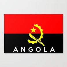 Angola country flag name text Canvas Print