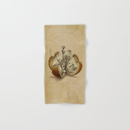 Steampunk Orange (sepia) Hand & Bath Towel
