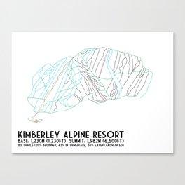 Kimberley Alpine Resort - BC, Canada - Minimalist Winter Trail Art Canvas Print
