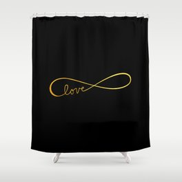 Infinite Love Shower Curtain