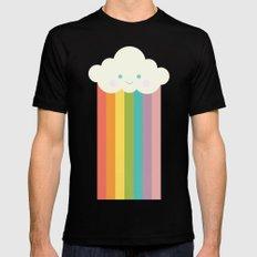 Proud rainbow cloud Mens Fitted Tee MEDIUM Black