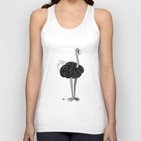 ostrich Tank Tops featuring Ostrich? by Annadiplosis