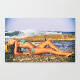 Beach Girl Canvas Print