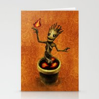 groot Stationery Cards featuring Groot by Anna Shell