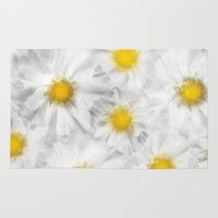 daisies Area & Throw Rugs featuring Daisies by Klara Acel