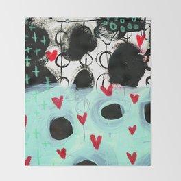 Falling Hearts Throw Blanket