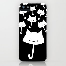 minima - cat rain iPhone Case