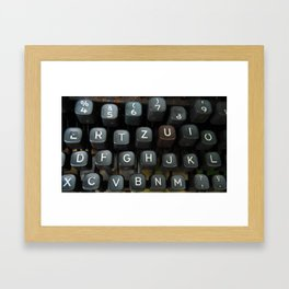 typewriter close up on keys Framed Art Print