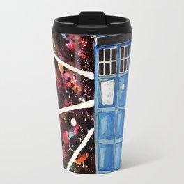 Watercolor Tardis Travel Mug