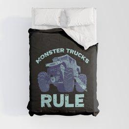 Awesome Monster Trucks Rule Funny Trucks Gift Comforters