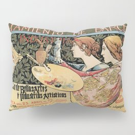 Vintage Art Nouveau expo Barcelona 1896 Pillow Sham