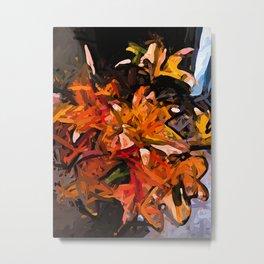 The Orange Lilies 1 Metal Print