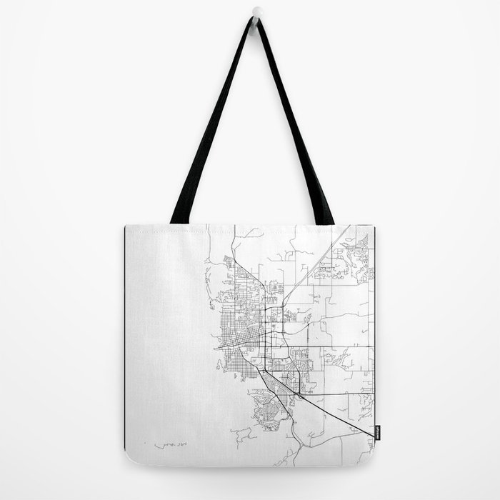 Minimal City Maps - Map Of Boulder, Colorado, United States Tote Bag