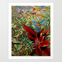 The Red Flower: Julie Northey Art Print