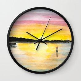 Lakeshore View Wall Clock