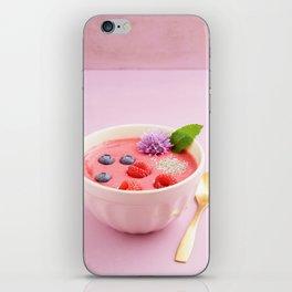 Raspberry smoothie bowl iPhone Skin