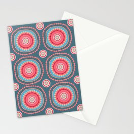 suzani abstracted Stationery Cards