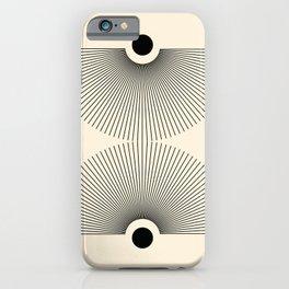 Abstraction_NEW_SUN_LINE_POP_ART_Minimalism_027AA iPhone Case