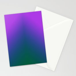Plush Peacock Ombre Stationery Cards