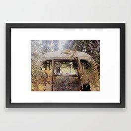 Abandoned Bus Framed Art Print