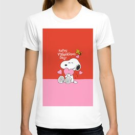 Snoopy red pink T-shirt