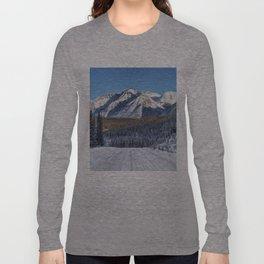 Winter Wonderland - Road in the Canadian Rockies Long Sleeve T-shirt