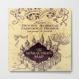 The Marauders Map castle harrypotter Metal Print