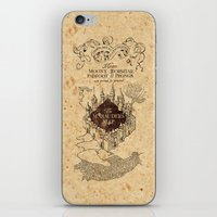 marauders iPhone & iPod Skins featuring MARAUDERS MAP by Graphic Craft