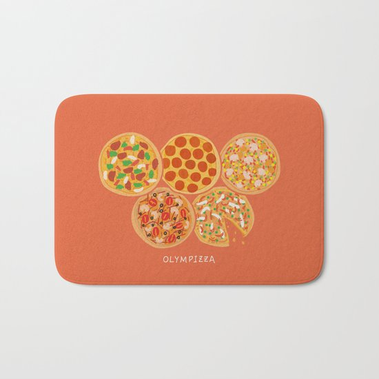 Olympizza Bath Mat