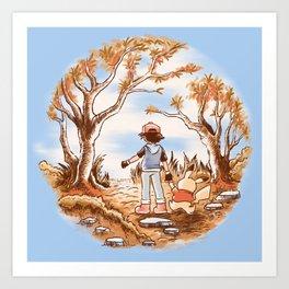 Pikapooh Art Print