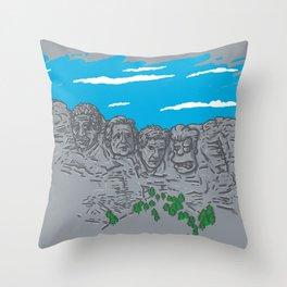 Presidents on a Mountain Throw Pillow