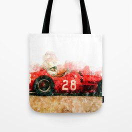Stirling Moss Formula 1, 250F Tote Bag