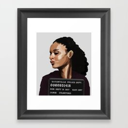 Banned Books Mugshots: Janie Framed Art Print