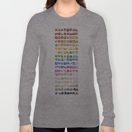 Emoji icons by colors Long Sleeve T-shirt