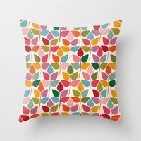 plants Throw Pillows featuring Plants by Helene Michau