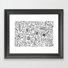 Scattered Framed Art Print