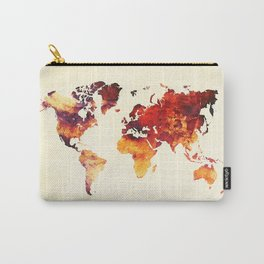 world map 89 art red Carry-All Pouch